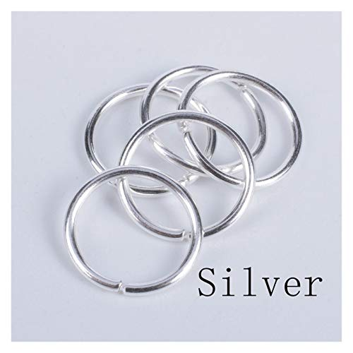WRRPS 200Pcs/lot Jump Rings Diy Accessories Findings Single Loops Split Rings Connectors For Jewelry Making DIY accessories (Color : Silver, Size : 5mm)