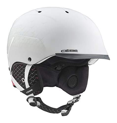 Cébé Contest Visor Ultimate Casque de Ski Adulte Unisexe, Matte White Grey, Large 59-61 cm