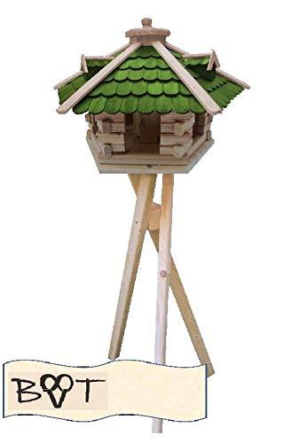XXL Vogelhaus -Holz Nistkästen & Vogelhäuser- aus Holz SG50grMS mit Ständer Futterhaus GRÜN
