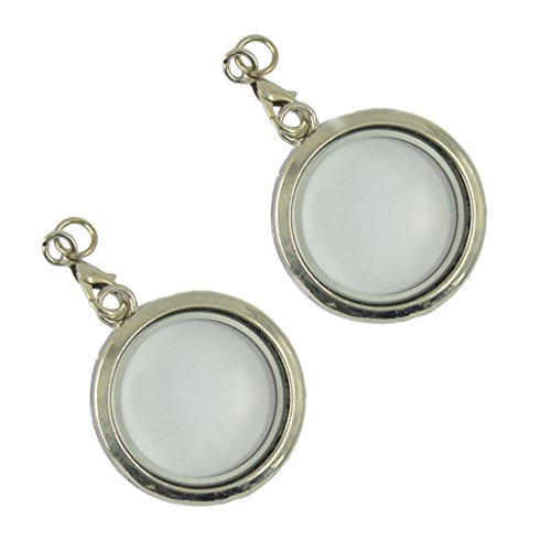 Dailymall 2 Colgantes Redondos de Plata con Forma de medallón Flotante para Collar