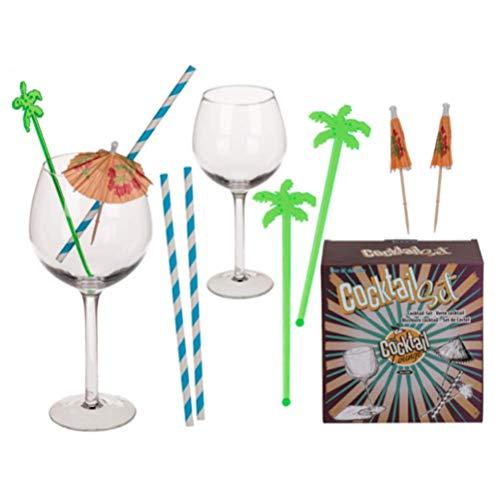 Gin & Tonic - Juego de bebidas de cóctel para verano, en caja de regalo