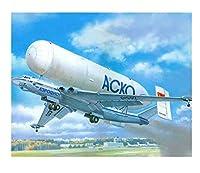 数字で描く航空機のキャンバスに描く手描きの絵画ギフトDIYの写真数字で描く風景キット家の装飾 40 * 50 cm(フレームなし)