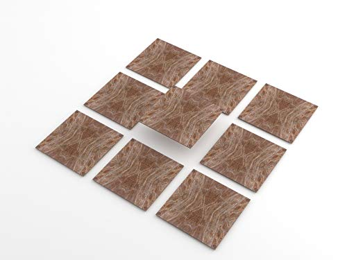 Tink Pegatinas de PVC para azulejos, cocina, baño, superficies de madera, escaleras (20 x 20 cm, 6 unidades), color rosa