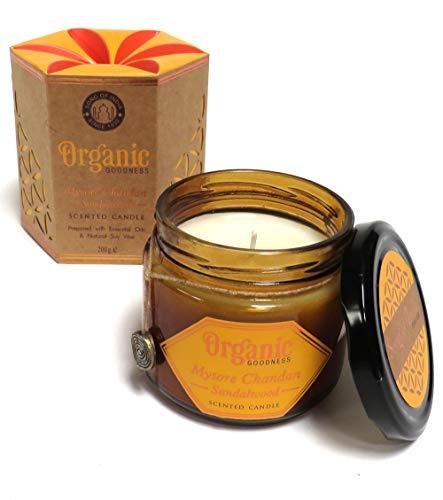 Organic Goodness Soja-Duftkerze im Glas (Sandelholz)