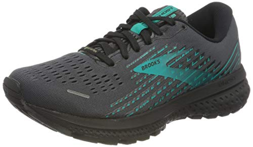 Brooks Damen Ghost 13 GTX Laufschuh, Black/Black/Peacock, 41 EU
