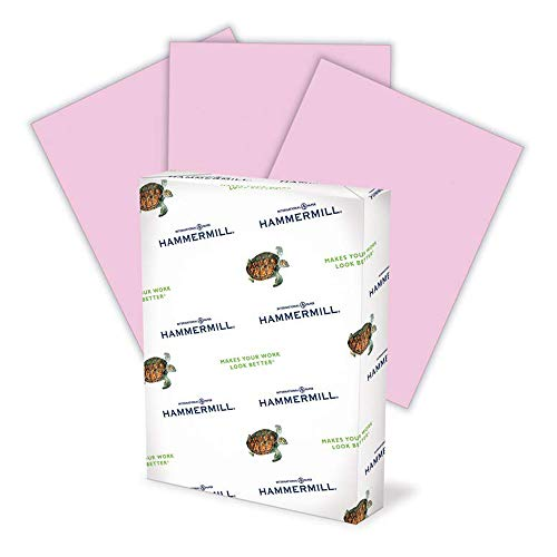 Hammermill Colored Paper, 20 lb Lilac Printer Paper, 8.5 x 11-1 Ream (500 Sheets) - Made in the USA, Pastel Paper
