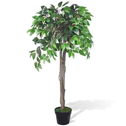 vidaXL Artificial En Maceta Árbol Planta De Ficus 110 cm Decorativo Casa Jardín