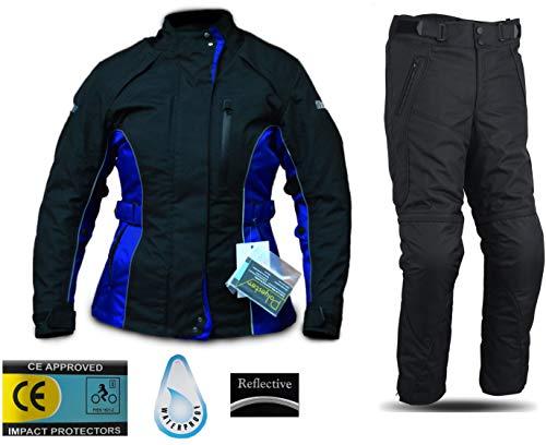 WinNet Completo tuta da moto femminile in cordura giacca e pantaloni per turismo (S)