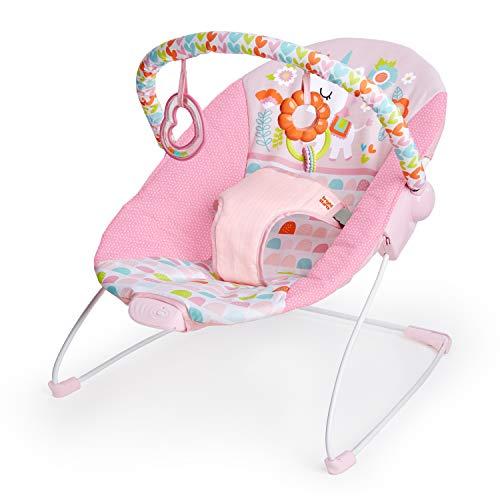 Bright Starts, Hamaca bebé Fanciful Fantasy, con vibraciones y arco de juego