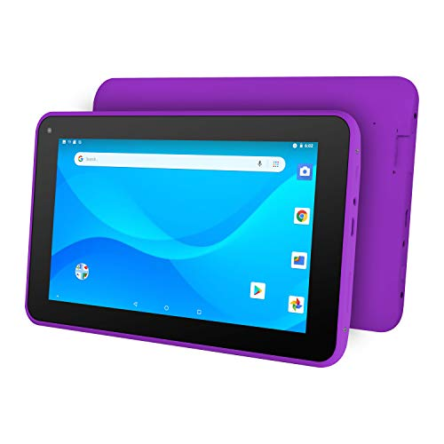 """Ematic 7"""" Quad-Core Tablet with Android 8.1 Go Edition, Purple"""