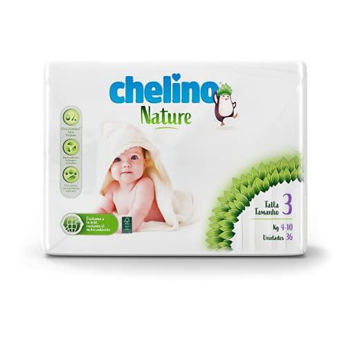 Chelino Nature Pañal Infantil Talla 3 (4-10 kg), 216 Pañales