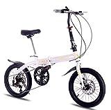 CGXYZ Bicicleta de montaña Marco de Acero 16 Pulgadas Ruedas Bicicleta de Doble suspensión Plegable