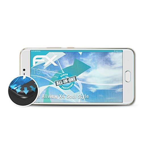 atFolix Schutzfolie kompatibel mit Allview X4 Soul Style Folie, ultraklare & Flexible FX Bildschirmschutzfolie (3X)