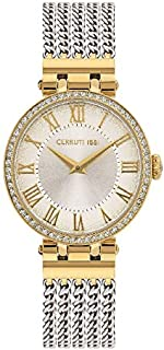 Cerruti 1881 Elettra Analogue Silver Dial Silver And Gold Plated Chain Bracelet Watch For Women - CRM26503