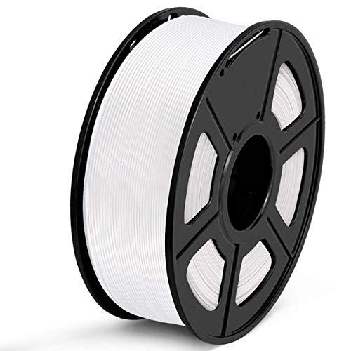 SUNLU Filamento PETG 1.75, Stampante 3D PETG Filamento 1kg Spool Tolleranza del diametro +/- 0,02 mm, PETG bianco