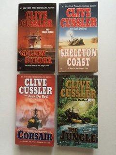 Clive Cussler (Set of 4) Golden Buddha; Skeleton Coast; Corsair; Jungle