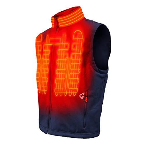 Gerbing Gyde Torrid Softshell Vest – 7V Battery Heated Clothing for Men, Navy