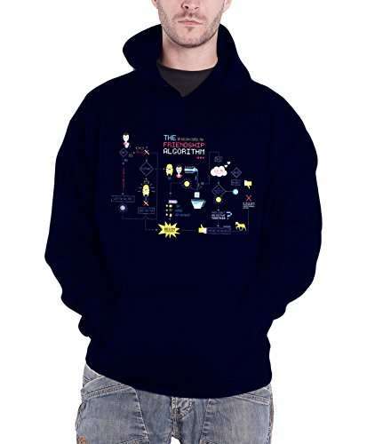 Officially Licensed Merchandise Friendship Minions Algorithm Hoodie (Navy), Small