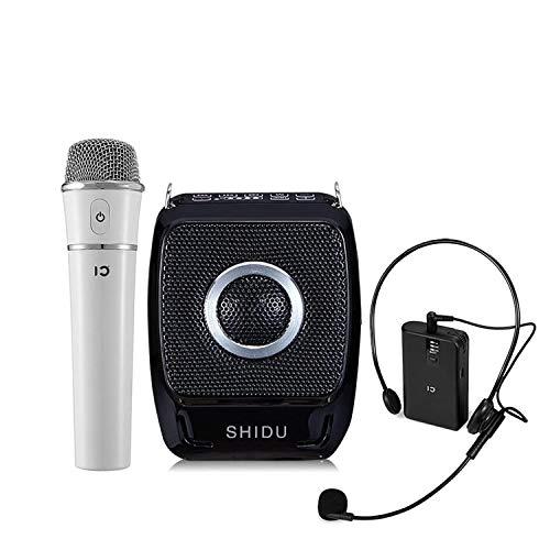 SHIDU Mini amplificador de voz recargable portátil de 25 vatios Sistema de...