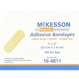 McKesson Performance Bandage Adhesive Fabric Strip, 100 Count 22 Increase body natural healing power.To avoid and prevent from the Strained Ligament. Reduce muscle fatigue and recover muscle and joint injury.Support your muscles and joints without restricting movement. Waterproof and breathable.Prevent muscle and joint injury.