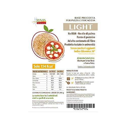 Pizza Dietetica Rima Benessere- base da 200g per pizza o focaccia dietetica - nuova versione