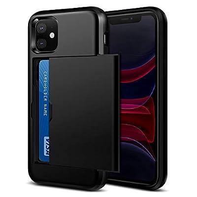 Amazon - Save 50%: Jiunai iPhone 11 Case, iPhone 11 Cases Slim Card Holder Wallet Sliding Cov…