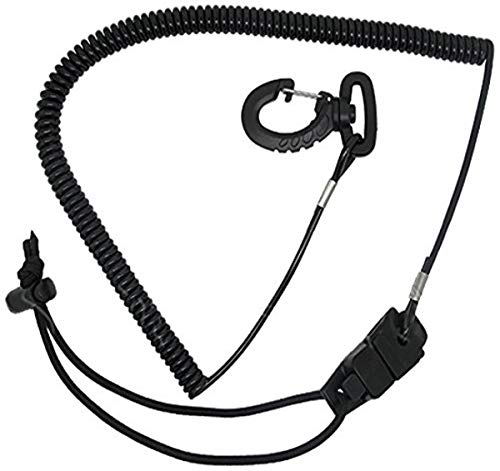 Scuba Choice Surfing Surfboard Sup Coil Paddle Leash Cord with Quick Release Buckles and Clips