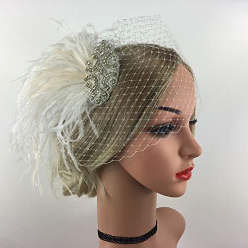 Lurrose 1 Stks Bruiloft Veer Veil Headdress Party Bruiloft Festival Haarband Hoop Decor voor Bruidsmeisje Bruid