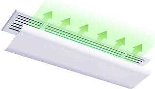 JJSFJH Deflector de Viento de Aire Acondicionado Deflector Ajustable Universal Parabrisas Central Deflector de Aire Acondicionado de soplado Anti-Directo (Tamaño: 90/100/120 cm de Longitud)