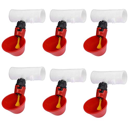 Weilan Automatic Poultry Watering Cups Chicken Quail Water Drinking Cups Pigeon Hem Drinker with 25mm PVC Fittings