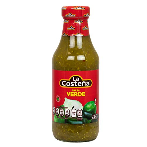 La Costena Salsa Mexicana Verde, 425ml, Typisch Mexikanisch mit Tomatillos - pikant, Hervorragender Geschmack