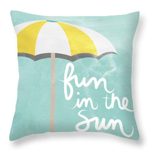 Lplpol Fun In The Sun Throw Pillow Covers Cotton Linen Square Decorative Throw Cushion Cover 20 x 20
