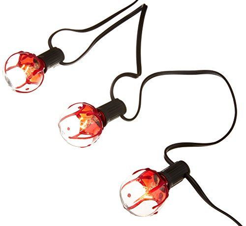 amscan Bloody Globe Halloween String Lights 11', Red/White (241484)