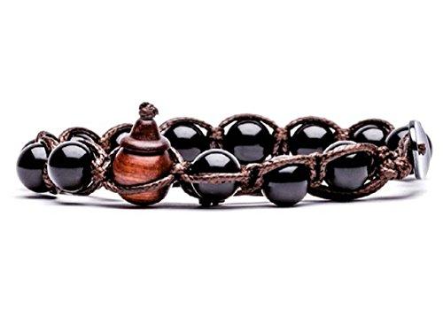Bracciale originale tibetano Tamashii realizzato con pietre naturali ONICE