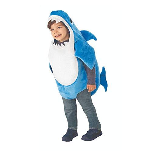 LZJE Party Kleider Cartoon Kostüme für Baby Unisex Kleinkind Familie Hai Cosplay Kostüm Kinder Halloween Dress Up Ocean-Themed, Blau, XL