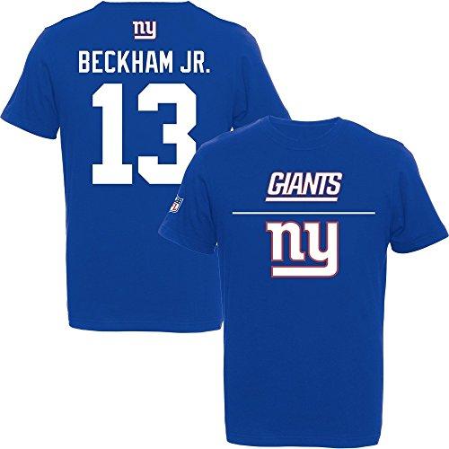 Majestic Odell Beckham Jr. #13 New York Giants 2015 Aggressive Player NFL T-Shirt L