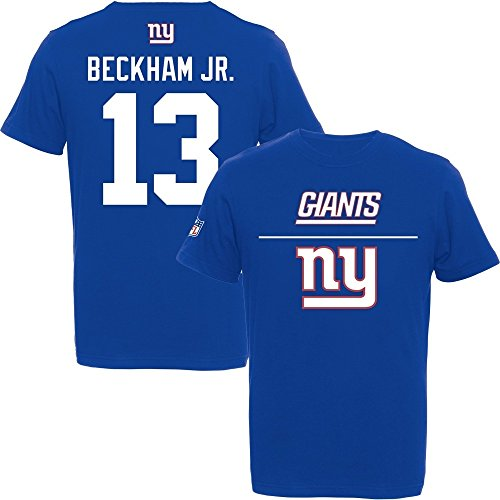 Majestic Odell Beckham Jr. #13 New York Giants 2015 Aggressive Player NFL T-Shirt XXL