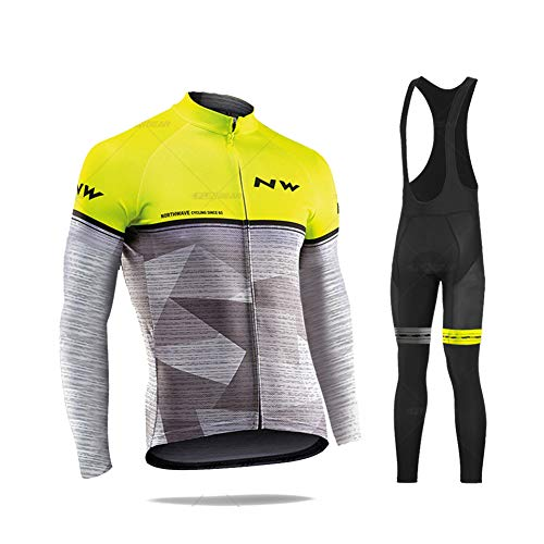 YEARGER Ciclismo Maillot Hombres Jersey + 5D Gel Acolchado Pantalones Largo Culote...
