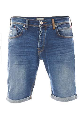 LTB - Pantalones vaqueros para hombre, bermudas Corvin, corte ajustado, algodón, vaquero, cortos, azul oscuro, negro, S, M, L, XL, XXL, 3XL, 4XL, 5XL Bulky Wash (52249). XXXL