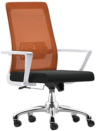 THBEIBEI Office Chair Excutive Gaming Chair with Lumbar Support High-back Mesh Office Chair Adjustable Height Ergonomic Computer Desk Chair for Office Meeting Room Athletic Chair ( Color : Orange )