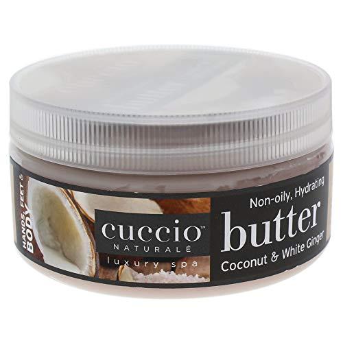 Cuccio Naturalé - Burro idratante, fragranza: cocco e zenzero bianco, 237 g