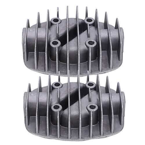 Culata Compresor de Aire Culata Aluminio Fundido Duradero 2.5P / 3P / 5P / 6P Culata Doble de Alta Resistencia 1.7 x 1.7 in para compresor de Aire