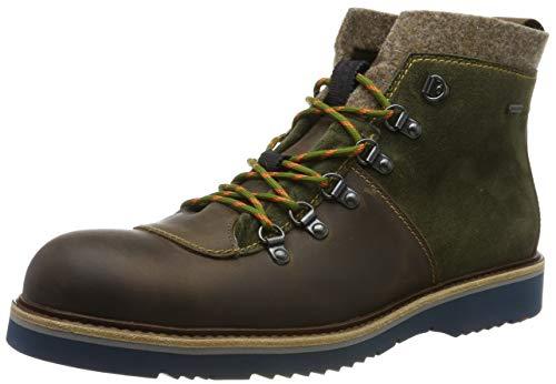 LLOYD Herrenschuh VAN, moderner Gore-Tex Stiefel aus Leder mit Gummisohle, Braun (Tundra/Olive/Brown 1), 42.5 EU
