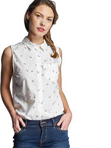 Levi's SL Joni Shirt Camiseta sin Mangas, Blanco (Handbells