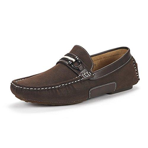Bruno Marc Men's Santoni-05 Brown Penny Loafers Moccasins Shoes Size 10.5 M US