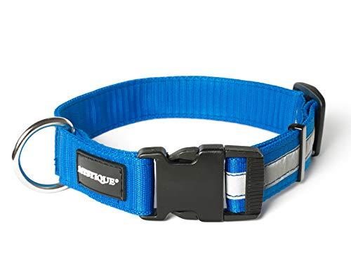 Mystique® Nylon Halsband Profi Reflex 30mm blau 55-65cm