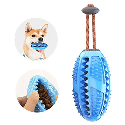 JIUJIU Hund Spielzeug Ball, Hundefutter Treat Feeder Zahn Reinigung Ball, Hunde Übung Spiel Ball IQ Training Ball,ungiftig Bite resistent Hund Zahnbürsten Stick