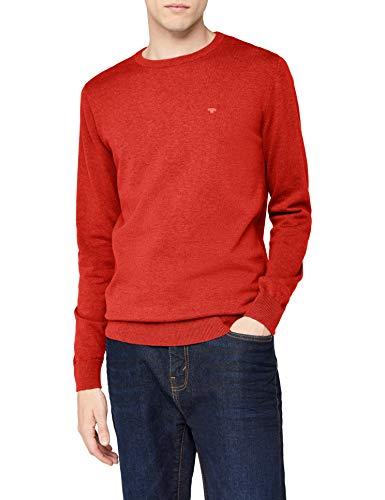 TOM TAILOR Herren 30228800910 Pullover, Rot (Fresh Hyacinthe Red Melange 4803), XXL