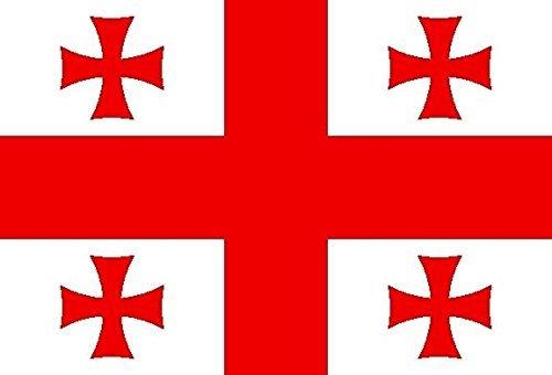 U24 Aufkleber Georgien Flagge Fahne 8 x 5 cm Autoaufkleber Sticker
