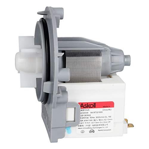 LG EAU61383502 ORIGINAL Ablaufpumpenmotor Laugenpumpenmotor Magnetpumpe Pumpe Entleerungspumpe Askoll S3308 RT021600 Waschmaschine Waschgerät